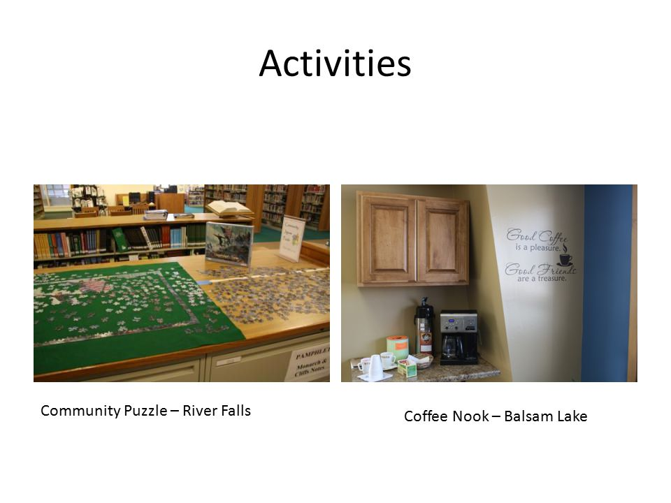 Activities Community Puzzle – River Falls Coffee Nook – Balsam Lake