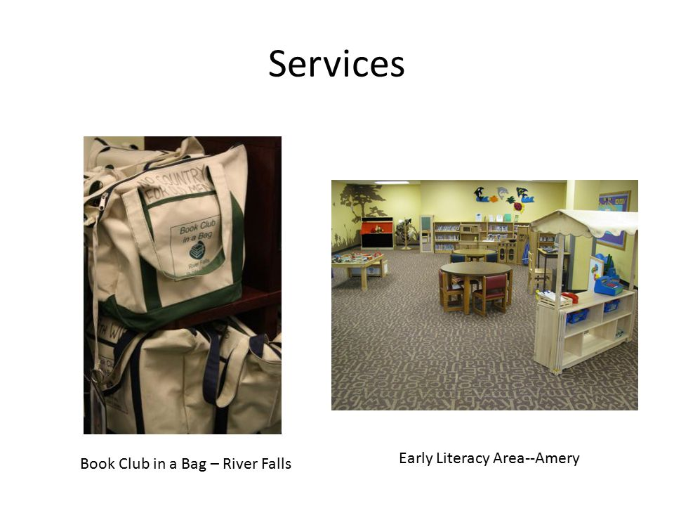 Services Book Club in a Bag – River Falls Early Literacy Area--Amery