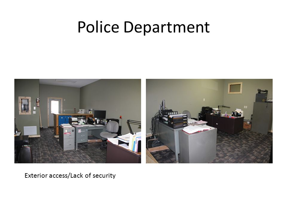 Police Department Exterior access/Lack of security