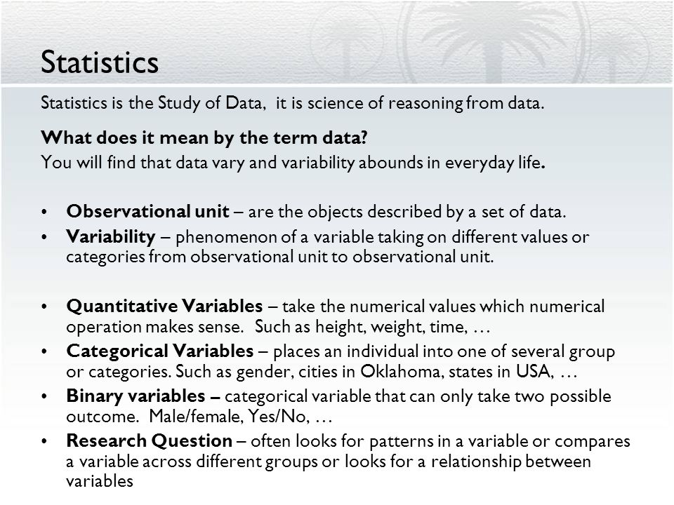 Introduction to Statistics Topics 1 - 5 Nellie Hedrick