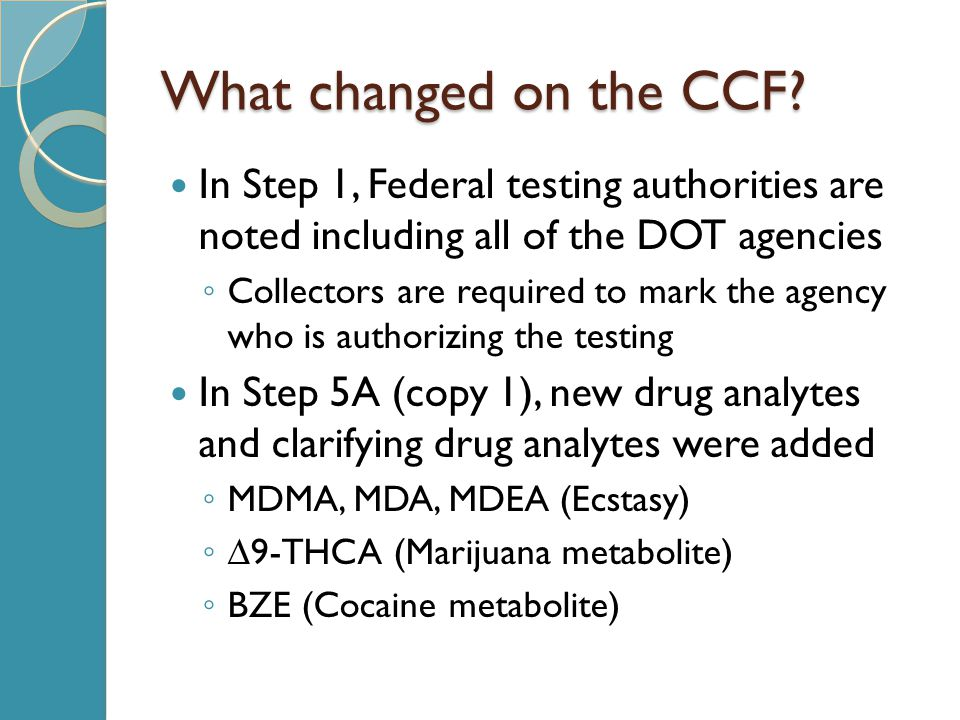 What changed on the CCF.