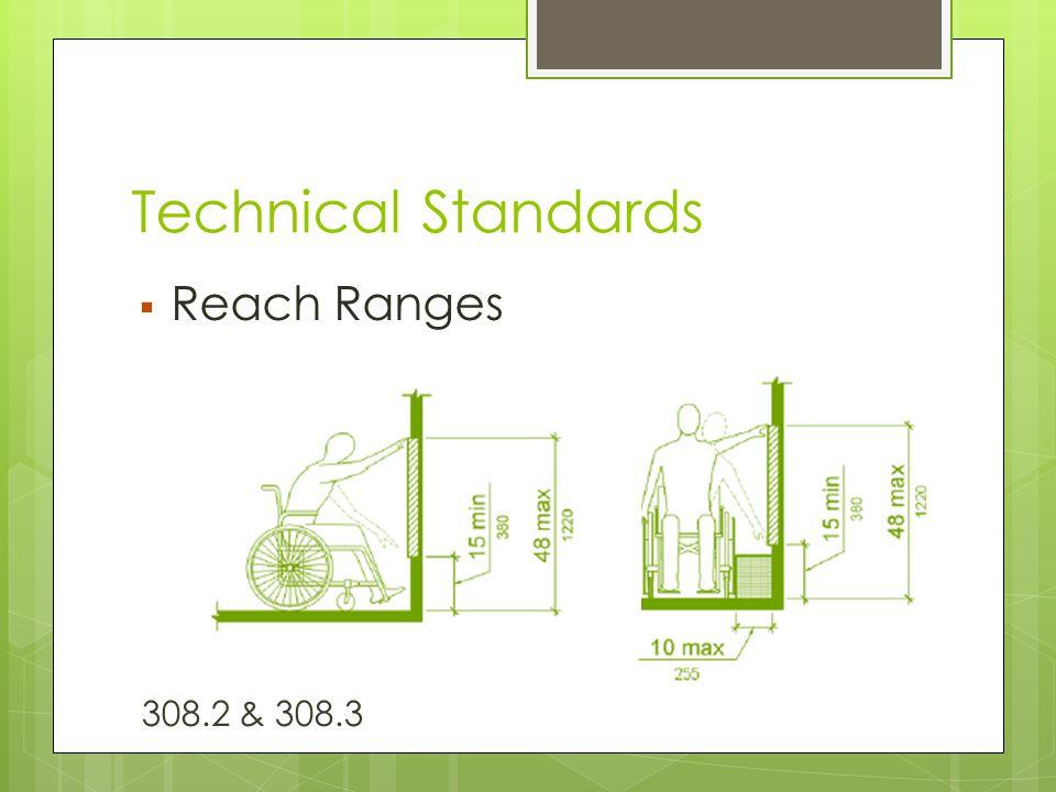Technical Standards  Reach Ranges 308.2 & 308.3
