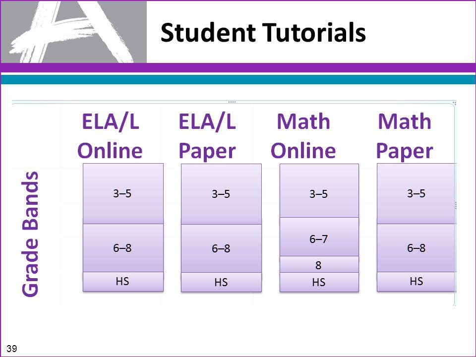 Student Tutorials 39