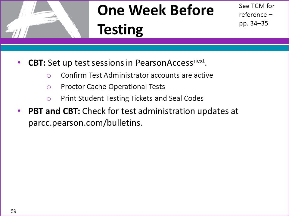 CBT: Set up test sessions in PearsonAccess next.