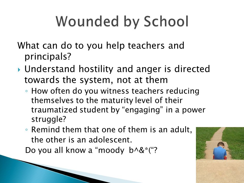 What can do to you help teachers and principals.