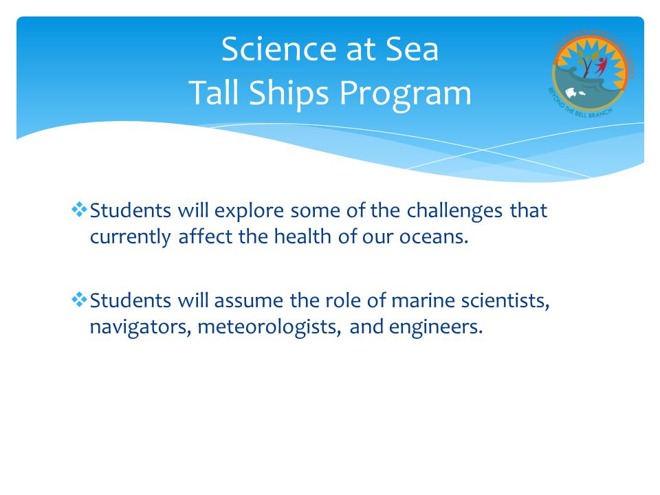  Students will explore some of the challenges that currently affect the health of our oceans.