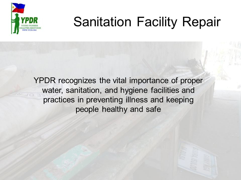 Sanitation Facility Repair