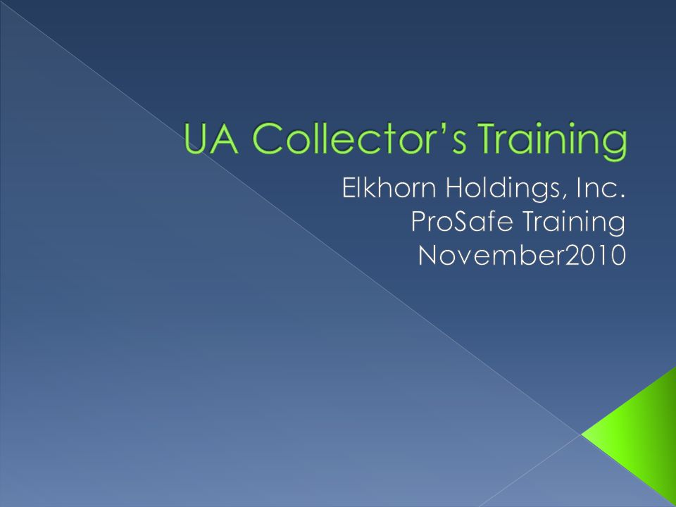  Study expectations of Elkhorn's D&A policies  Study the different DOT expectations  Learn Collection expectations  Learn Collection Techniques  How to handle difficult canadaites  Hands on training of collection process  Proper paperwork completion