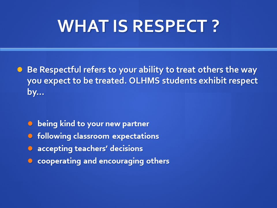 WHAT IS RESPONSIBILTY.Be Responsible refers to your ability to take ownership of your actions.