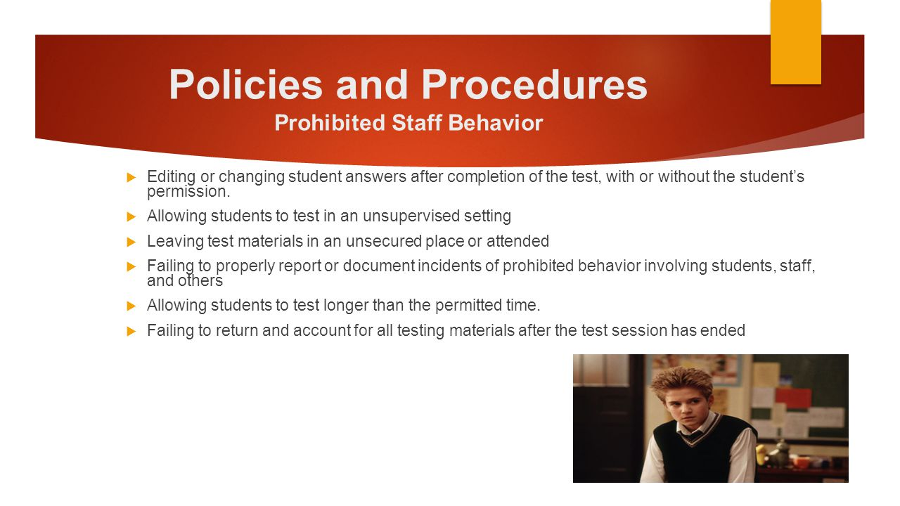 Desirable Conditions  All students in a room must take the same grade and subject tests.