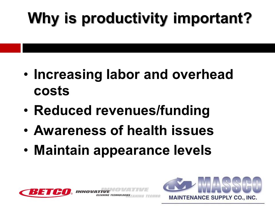 Why is productivity important.