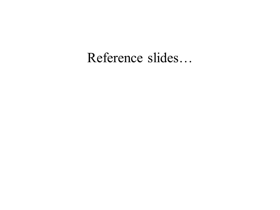 Reference slides…