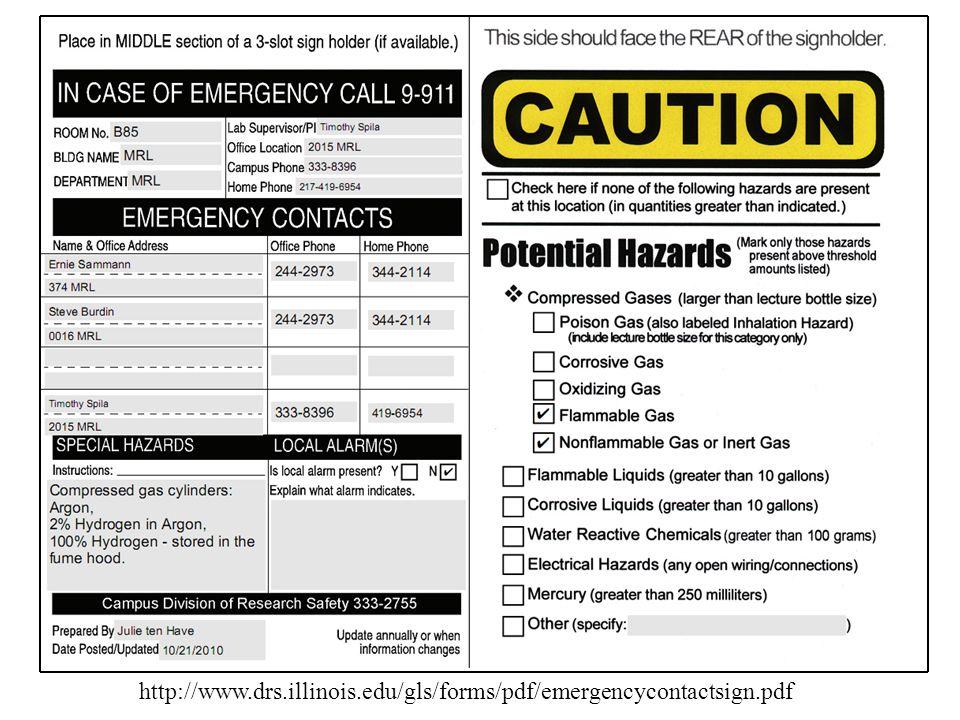 Door sign http://www.drs.illinois.edu/gls/forms/pdf/emergencycontactsign.pdf