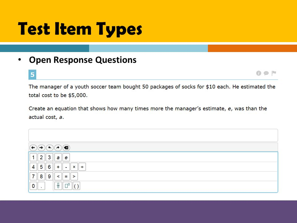 Test Item Types Open Response Questions
