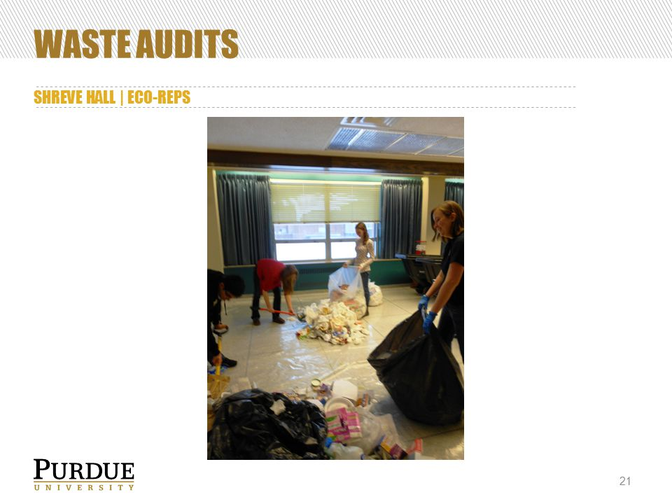 WASTE AUDITS SHREVE HALL | ECO-REPS 21