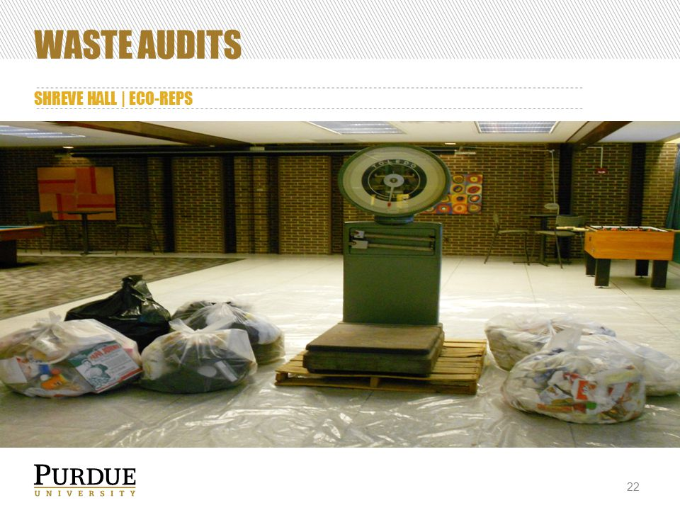 WASTE AUDITS SHREVE HALL | ECO-REPS 22