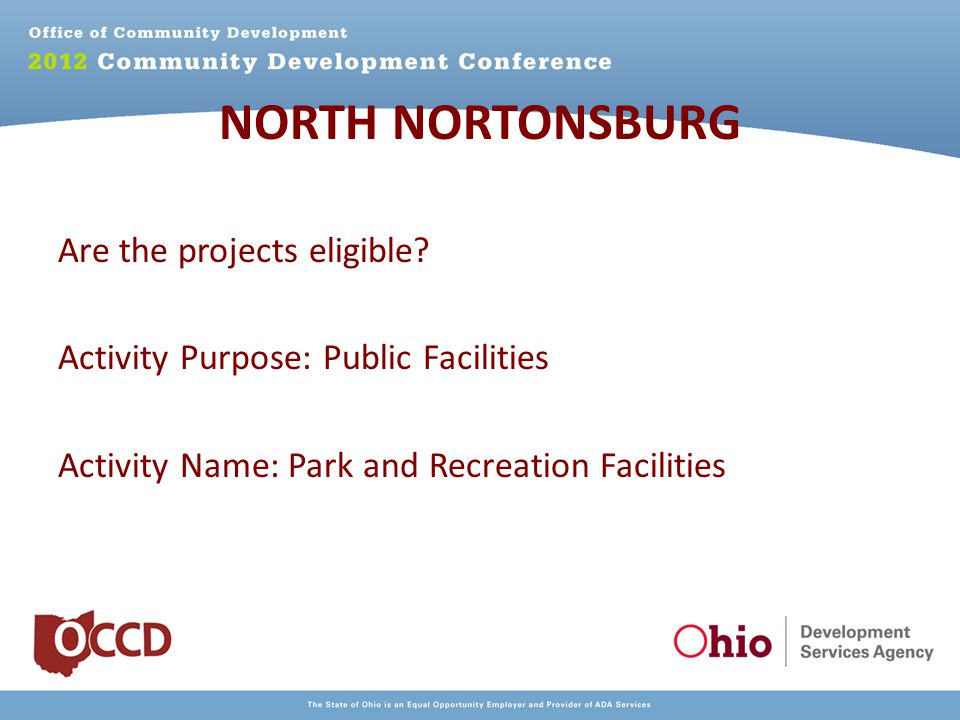 NORTH NORTONSBURG Are the projects eligible.