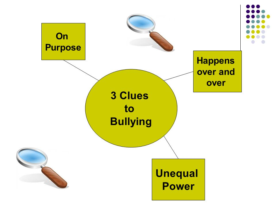 3 Clues to Bullying On Purpose Happens over and over Unequal Power