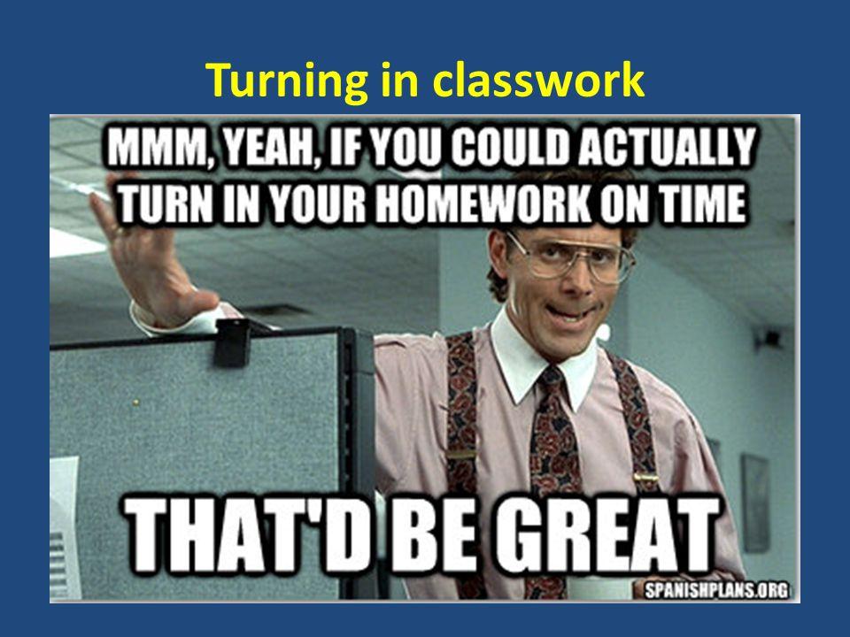 Turning in classwork