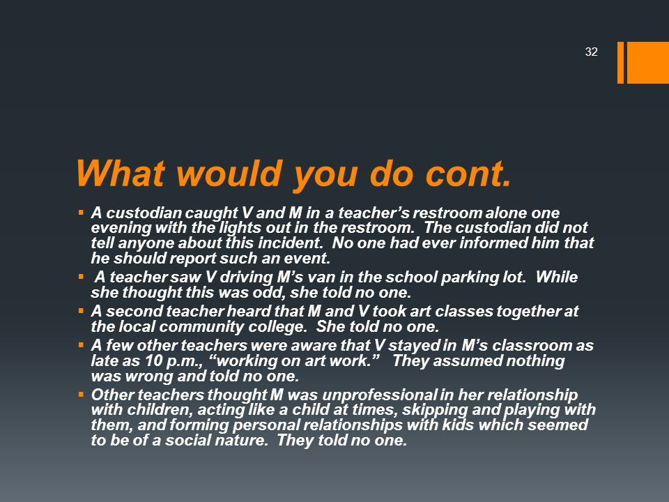 What would you do cont.