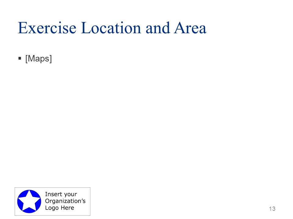 Exercise Location and Area  [Maps] 13