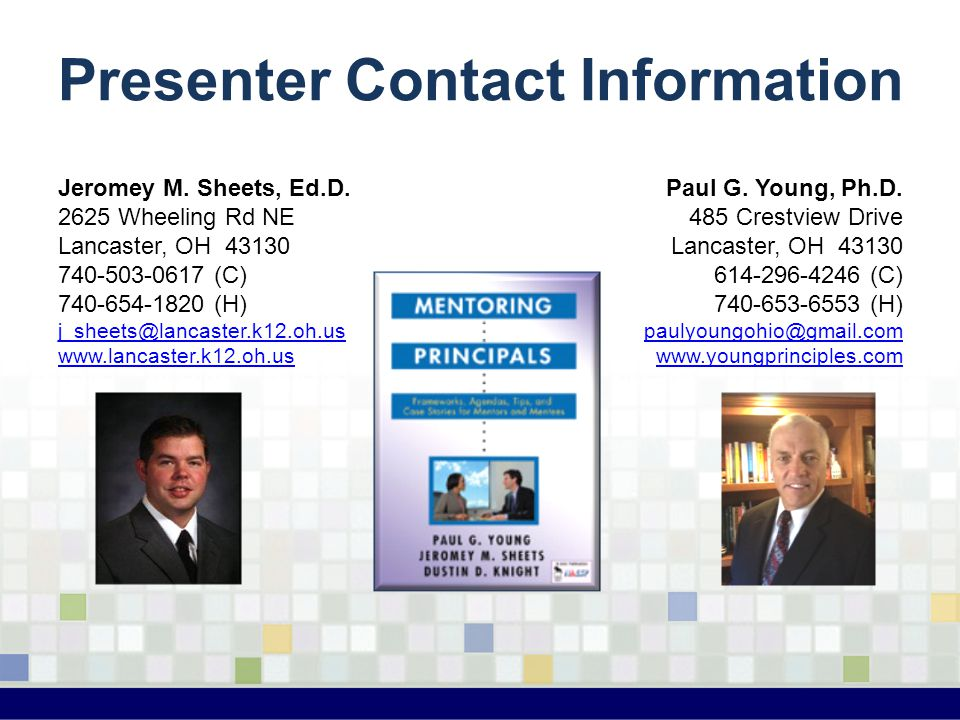 Presenter Contact Information Jeromey M. Sheets, Ed.D.