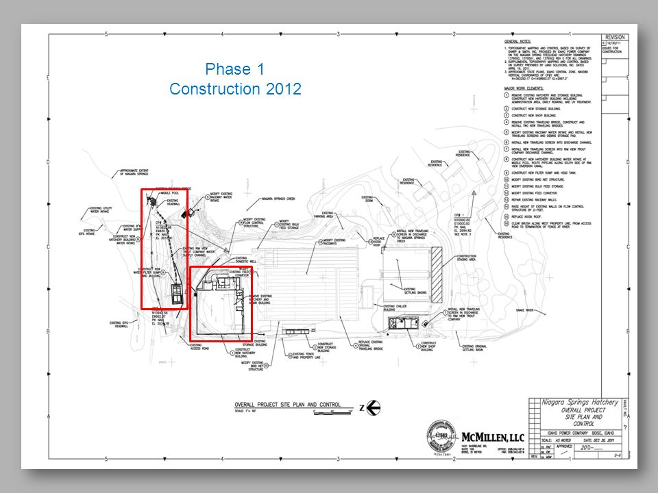 Phase 1 Construction 2012