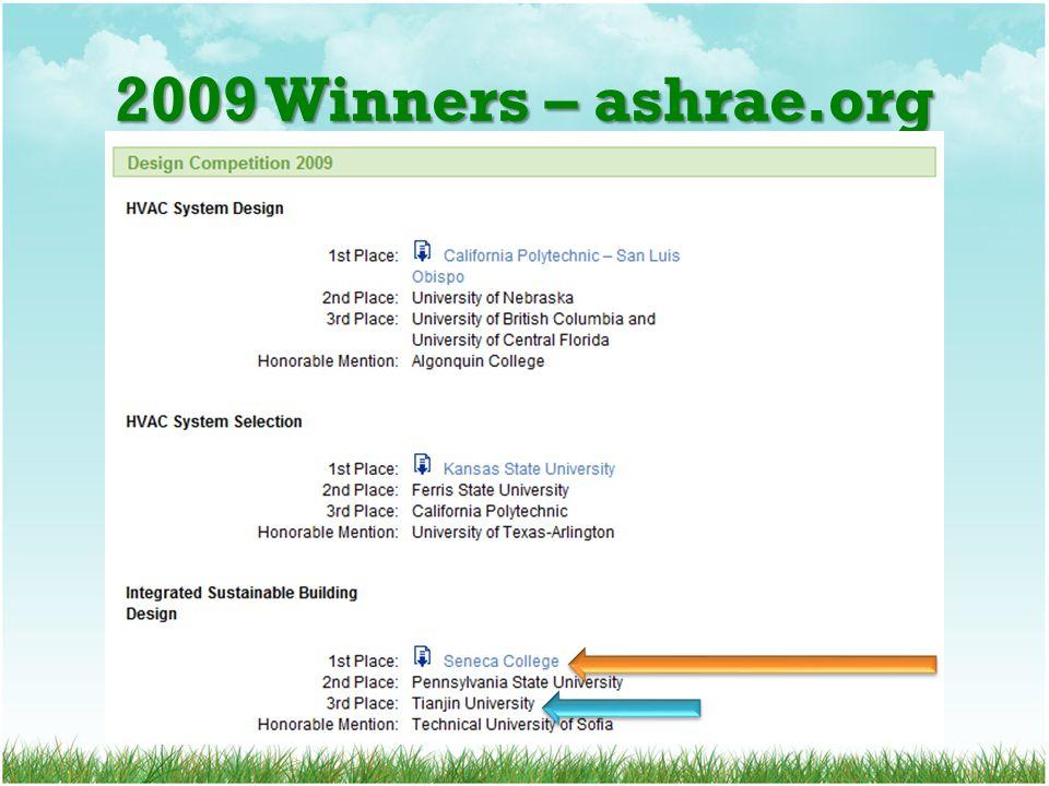 2009 Winners – ashrae.org