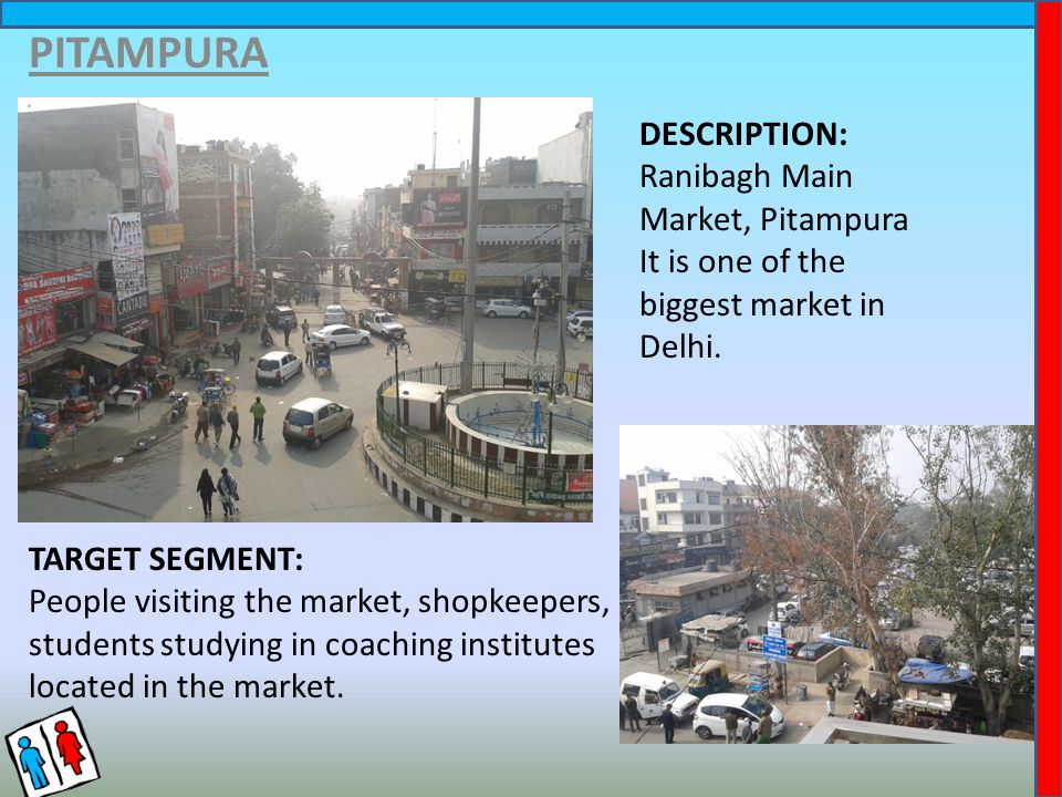 PITAMPURA DESCRIPTION: Ranibagh Main Market, Pitampura It is one of the biggest market in Delhi.