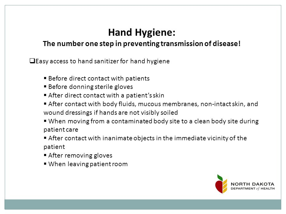 Hand Hygiene: The number one step in preventing transmission of disease.