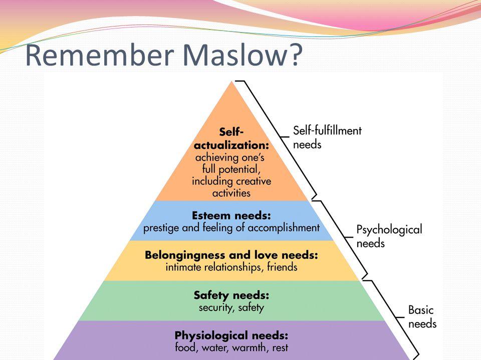 Remember Maslow
