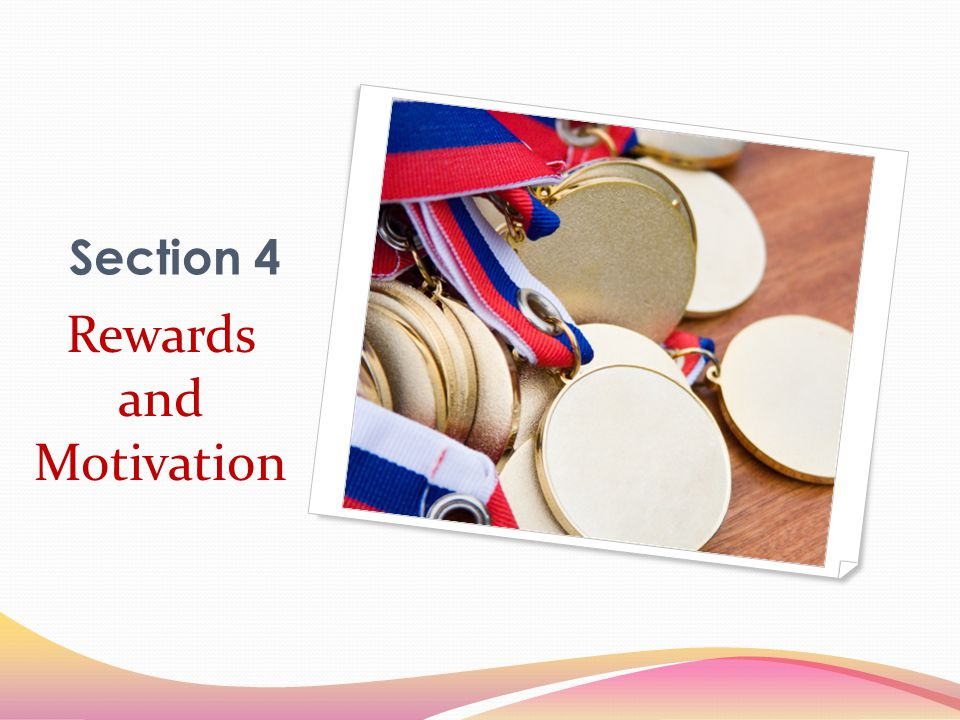 Section 4 Rewards and Motivation
