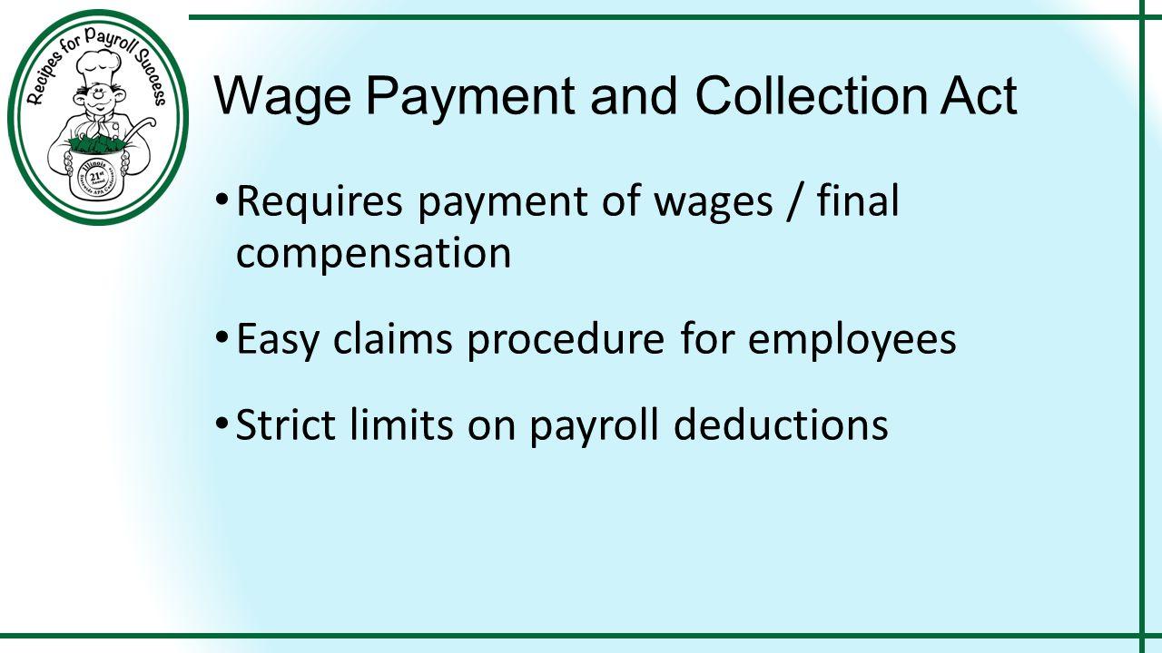 17 White Collar Exemptions Salary Amount - $455 / week minimum Salary Basis Duties