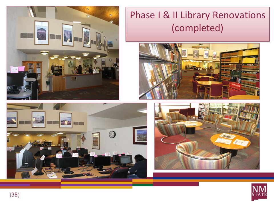 (35) Phase I & II Library Renovations (completed)