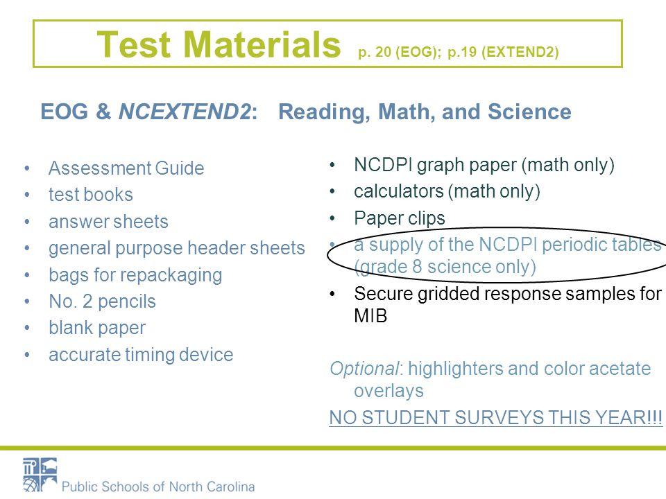 Test Materials p.