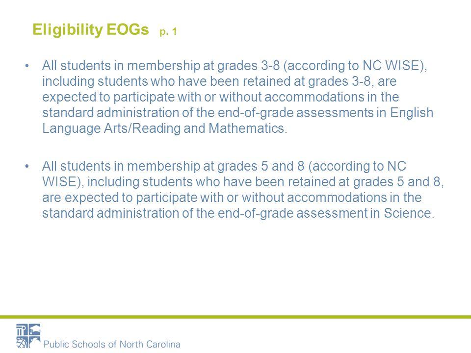Eligibility EOGs p.