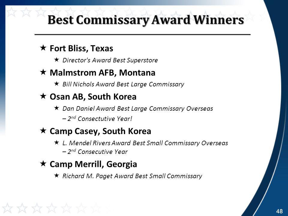 Best Commissary Award Winners.