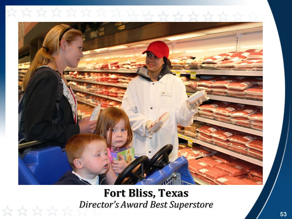 Fort Bliss, Texas Director's Award Best Superstore 53