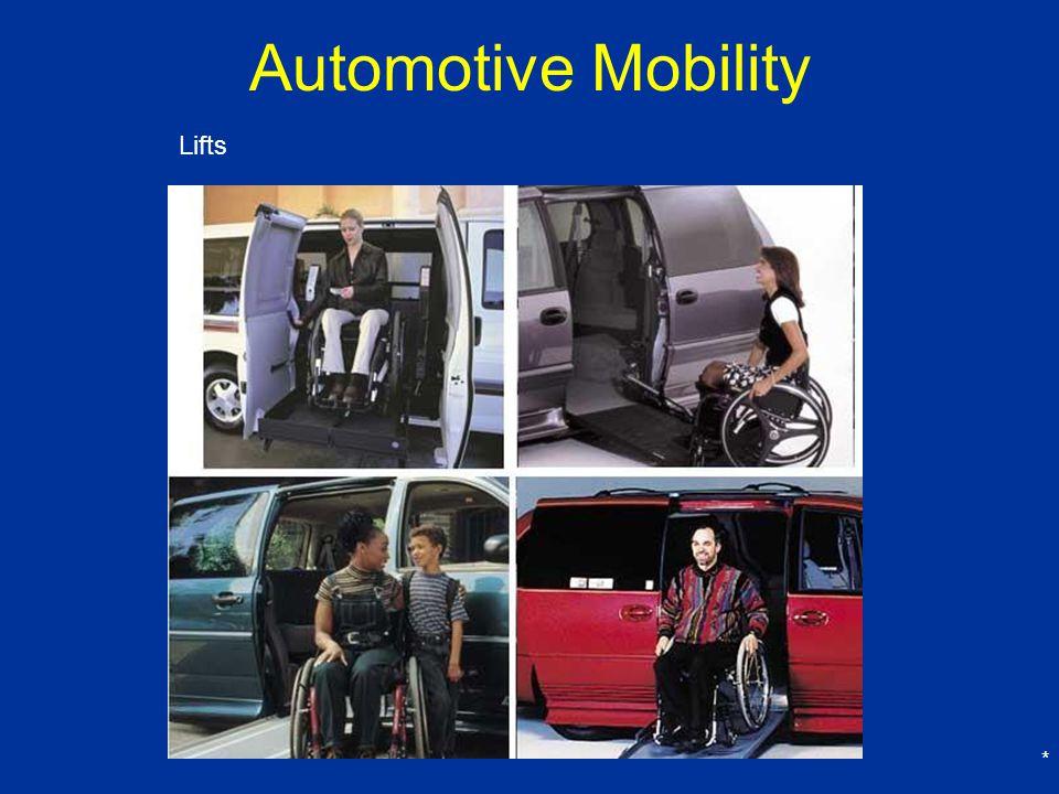 * Automotive Mobility Lifts