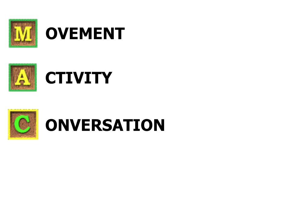 ONVERSATION CTIVITY OVEMENT