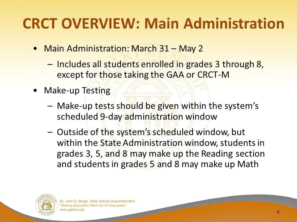 Guidance for GNETS Students GNETS sites who manage their own materials should coordinate with their students' home districts regarding the GIS and the shipping of scorable materials If GNETS materials arrive for scoring ahead of the home district, the scores for these students will arrive with those of the home district Contact CTB Customer Service for guidance if GNETS scorable materials ship after those of the home district If GNETS materials arrive after the home district scores have posted, the home district will receive a supplemental set of reports 29