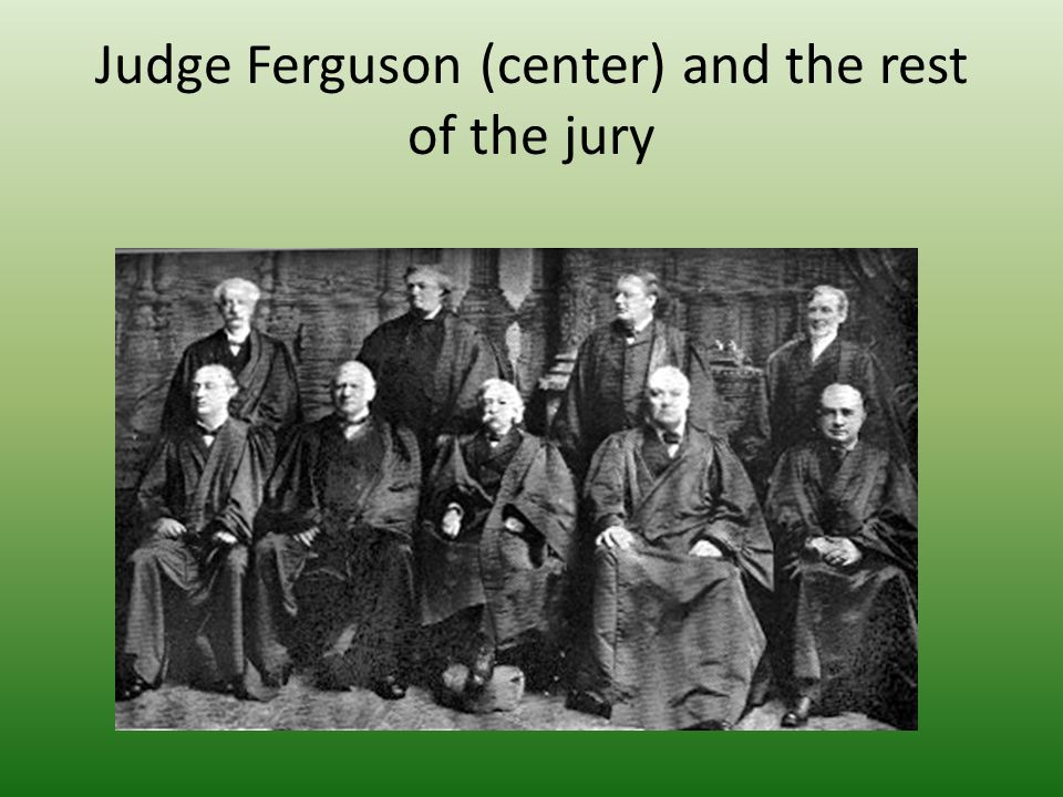 Judge Ferguson (center) and the rest of the jury