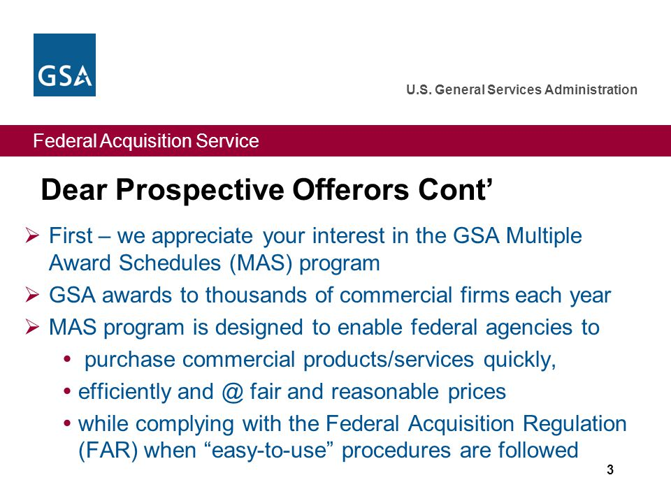 Federal Acquisition Service U.S.General Services Administration Todd D.