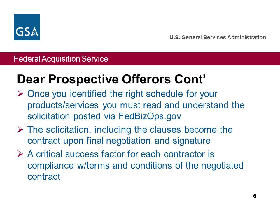 Federal Acquisition Service U.S. General Services Administration Attachment B: FedBizOps.gov 27