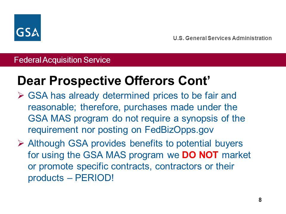 Federal Acquisition Service U.S. General Services Administration Attachment B: FedBizOps.gov 29