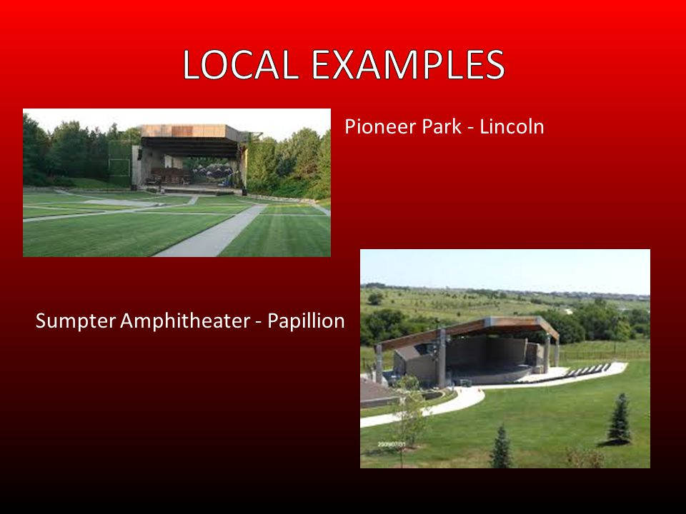 Pioneer Park - Lincoln Sumpter Amphitheater - Papillion