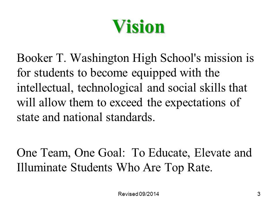 Revised 09/20144 Mission Booker T.
