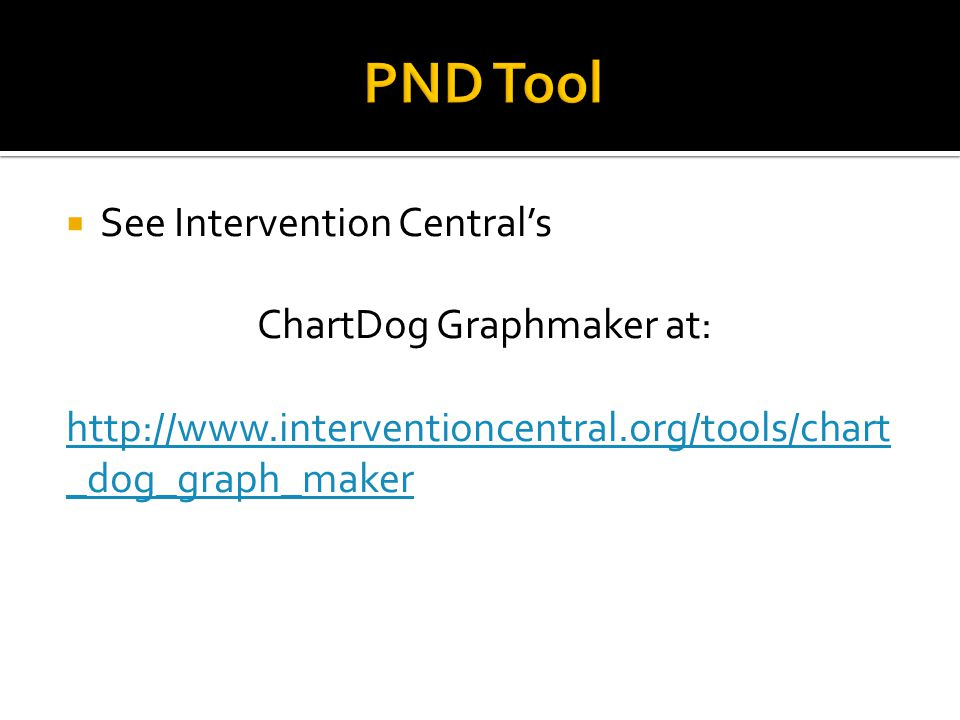  See Intervention Central's ChartDog Graphmaker at: http://www.interventioncentral.org/tools/chart _dog_graph_maker