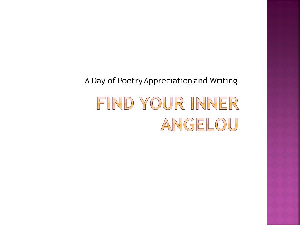 A Day of Poetry Appreciation and Writing