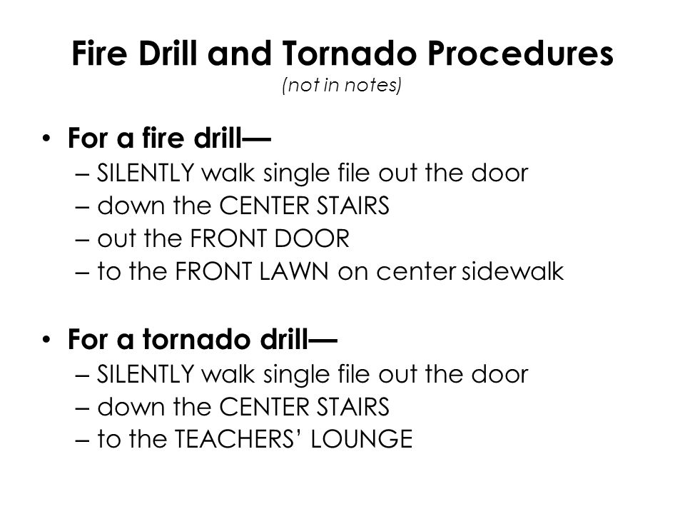 Entry Procedures When you walk into the classroom, you are expected of THREE things: 1.
